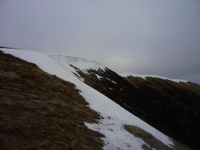 Snow Cornice on Coomb Craig, White Coomb