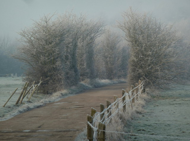 Track to the reserve on a frosty morning
