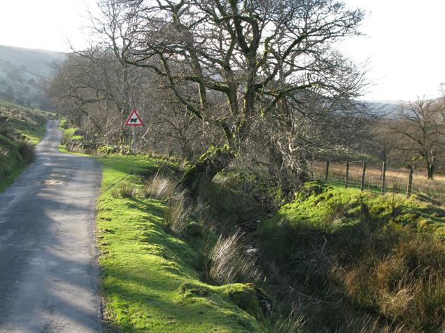View SW along Sarn Helen