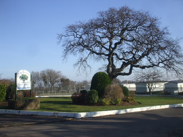 Entrance to The Bay Caravan Park, near Swanbridge