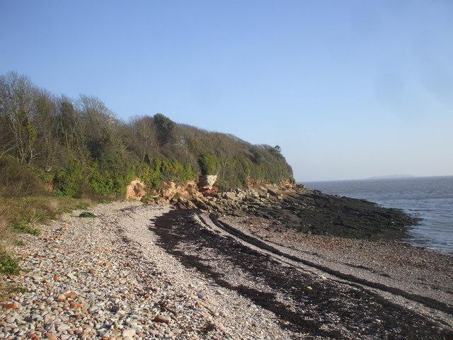 Stony beach, Swanbridge Bay