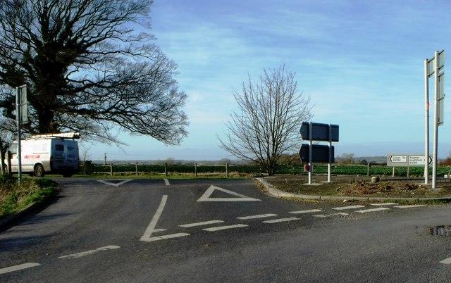 Road Junction near Ringmer