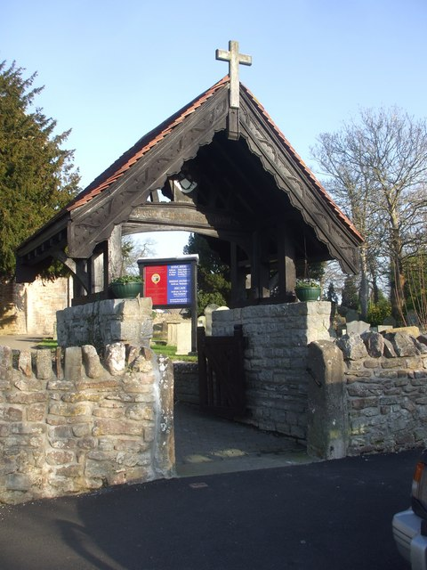 Lych gate, Church of St John Baptist, Sully