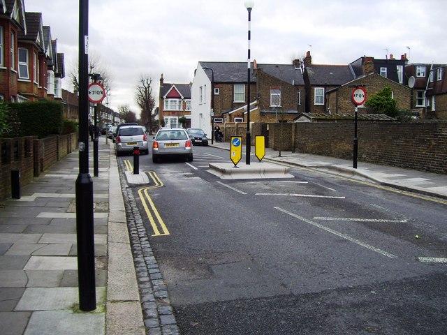 Pinch point, Leighton Road, Ealing