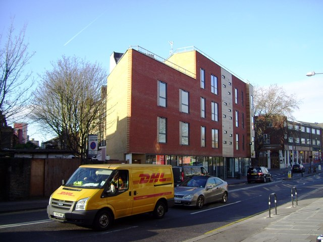 New offices and shops, Acton Lane