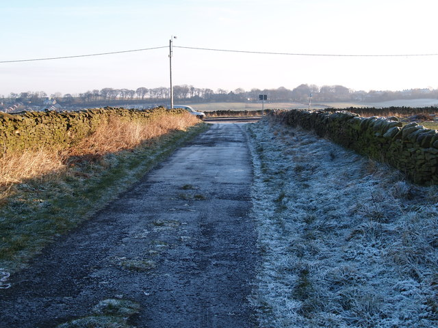 Looking east on Whinny Lane