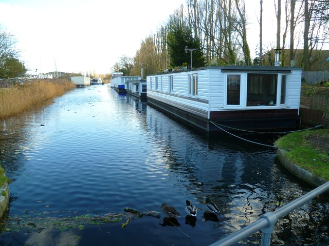 Ducks and houseboats on Chichester Canal