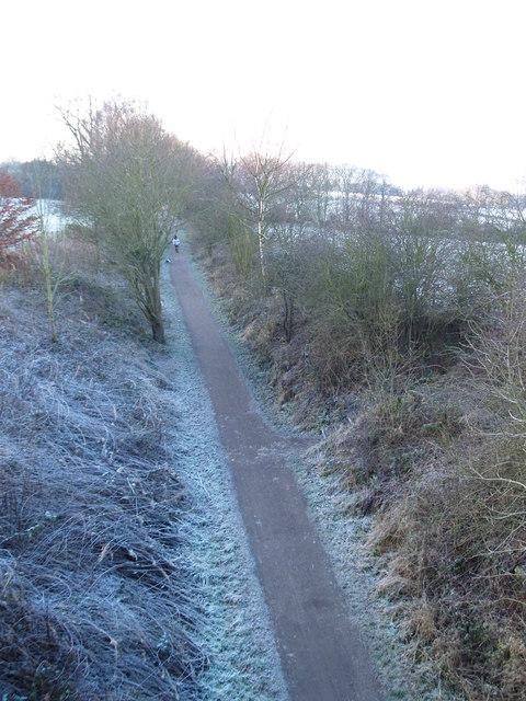 Derwent Walk from the road bridge at Ebchester