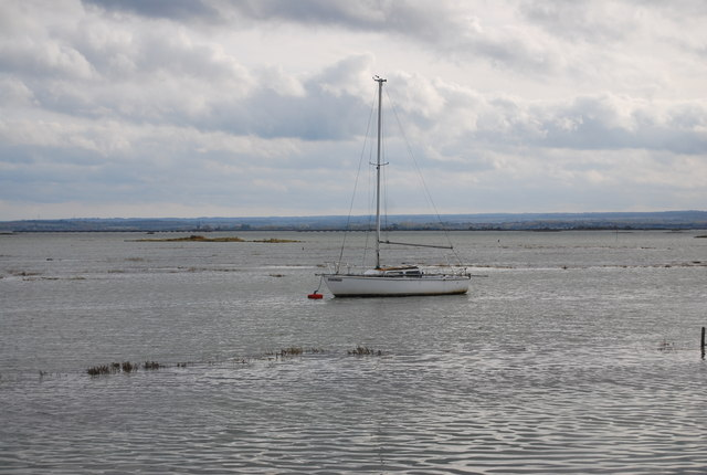 Boat moored on the Medway