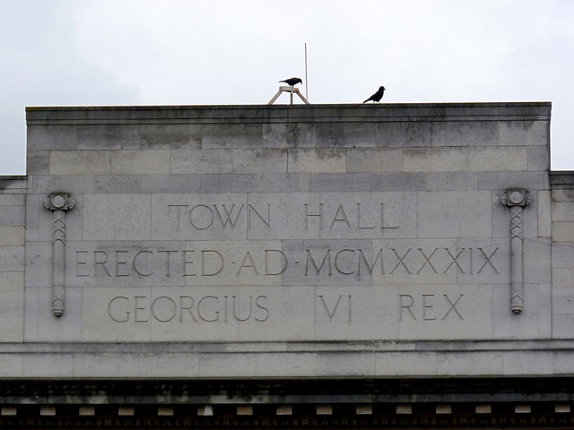 Inscription on Acton Town Hall