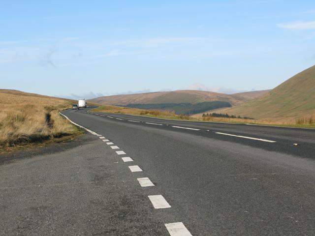 The A4059 at Pant y Waun, towards Brecon