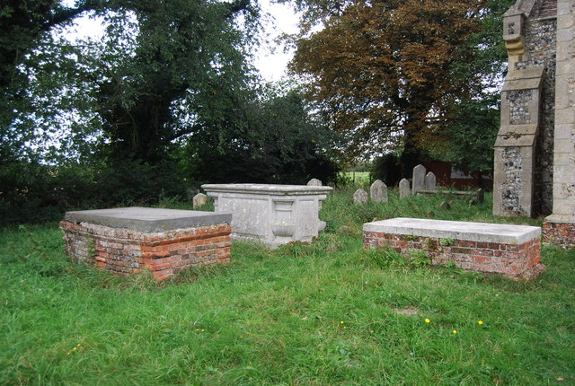 Graves in St Mary's churchyard