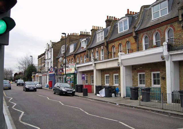 Flats and shops, Hinton Road