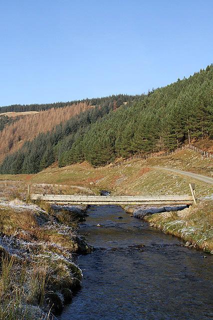 A bridge over the Douglas Burn