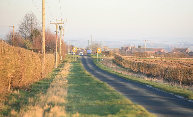 Hibaldstow village ahead