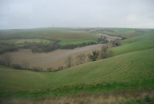 Chalk dry valley on Askerwell Down