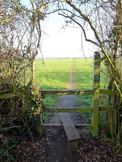 Stile and footpath