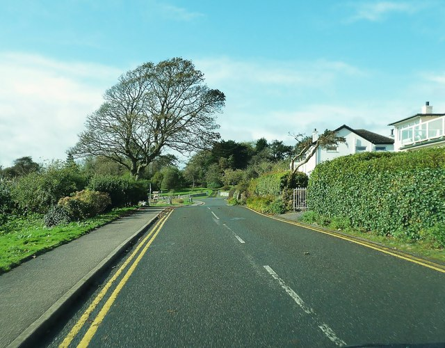 The road by the beach in Rockcliffe