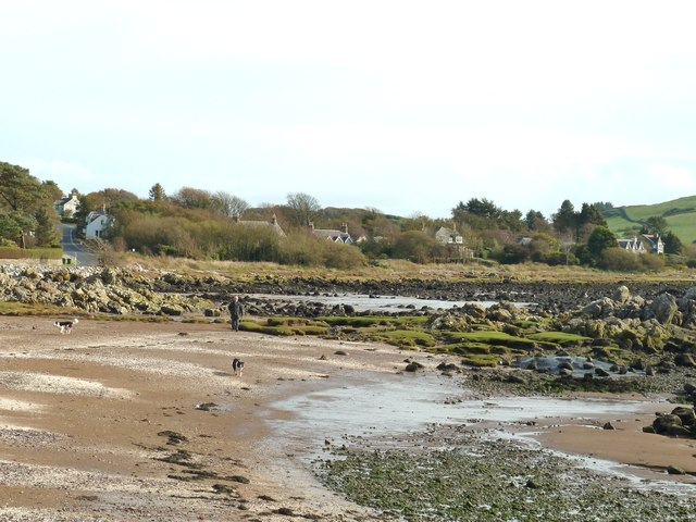 Rockcliffe beach at low tide
