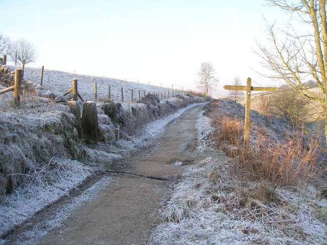 The Pennine Way crosses Hudson Mill Road