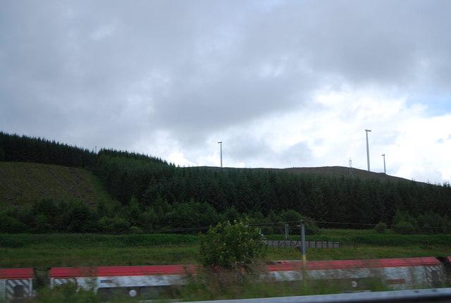 Wind farm and West Coast Main Line
