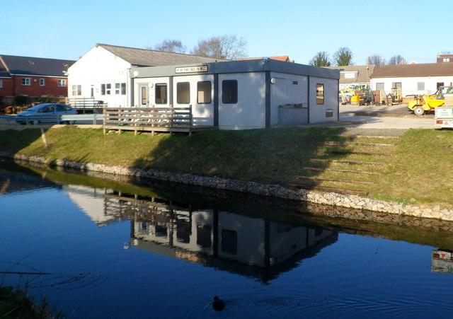 Canalside edge of Jay Bee premises, Ebley