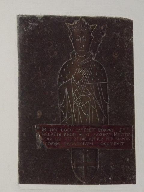 King Ethelred Grave Tablet