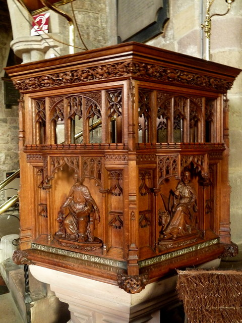 Carved pulpit, Wirksworth church