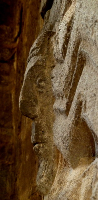Stone carving in Wirksworth church