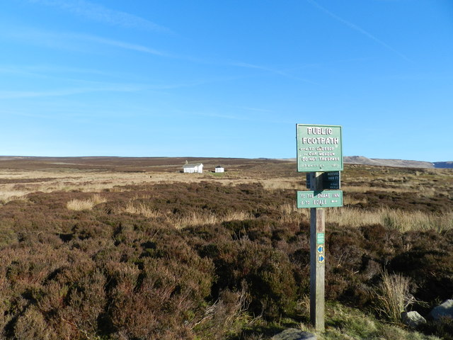 Signpost and shooting cabin