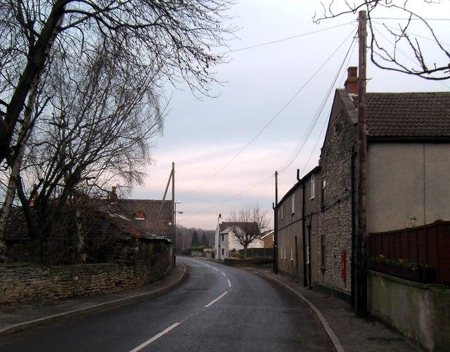 Road leading through Sutton village