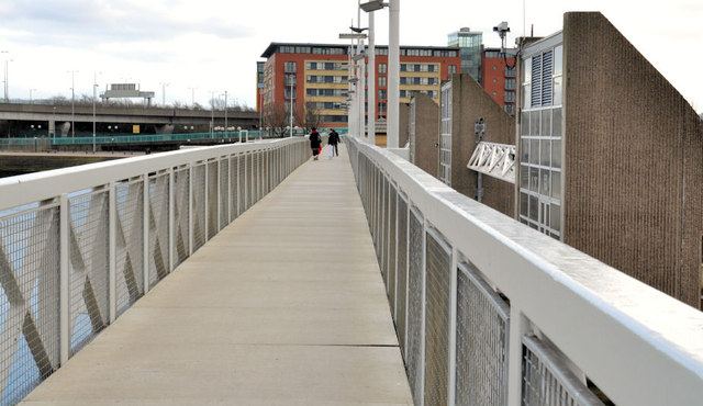 The Lagan weir footbridge, Belfast (2)