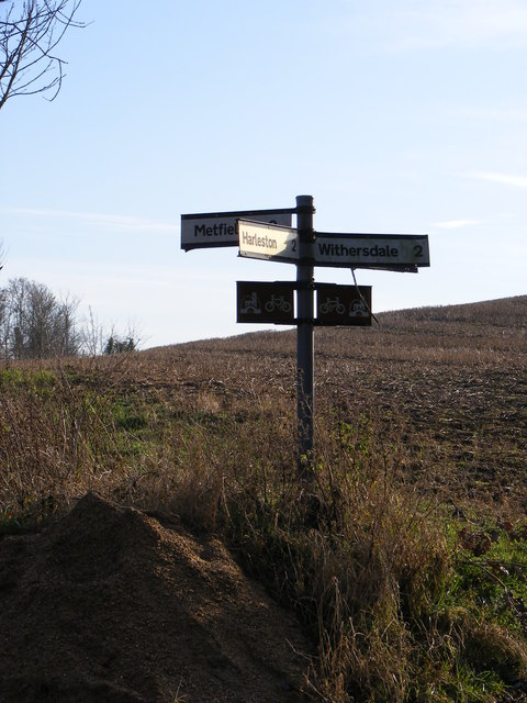 Roadsign on Withersdale Road