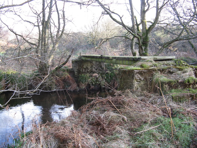 Wooden bridge over the Burn of Sheeoch