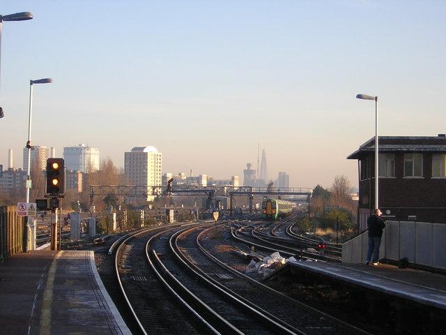Clapham Junction: view towards London