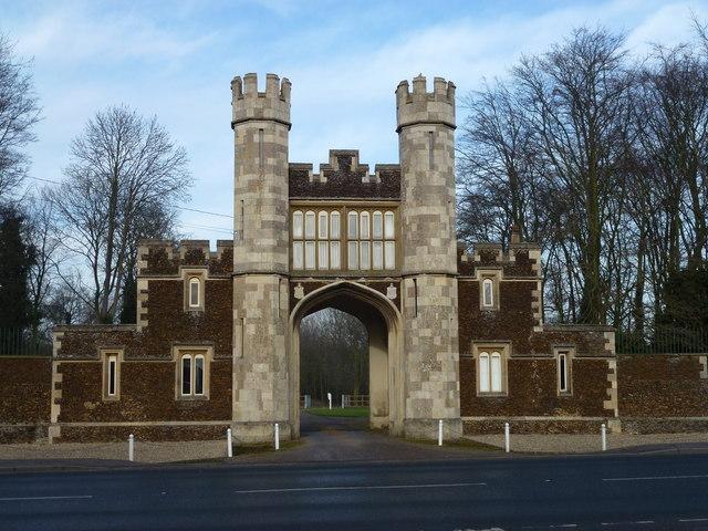 Gate house, Hillington Hall, King's Lynn
