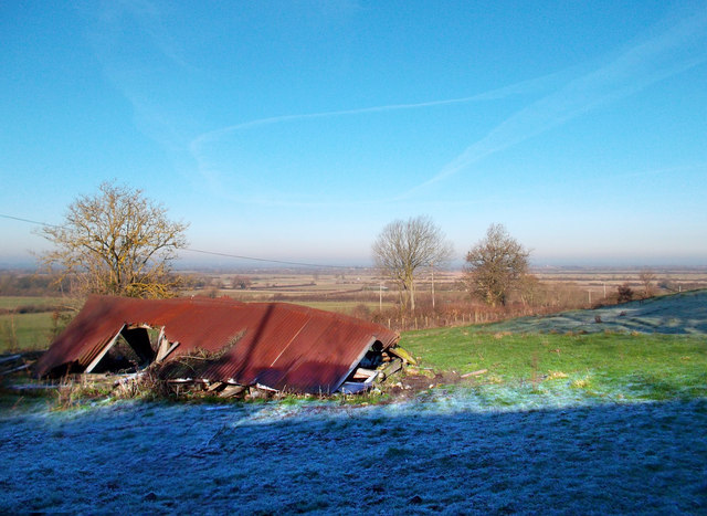 Collapsed Shed and View Over Otmoor