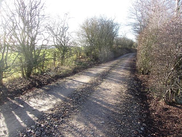 Farm road - Jedburgh Railway trackbed
