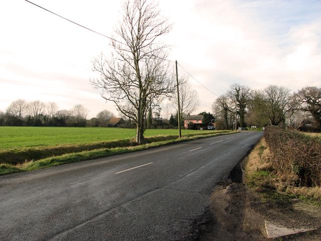 Approach to Stradbroke Farm, Ashfield Green