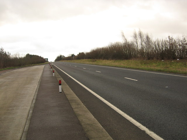 Looking south-east on the A417