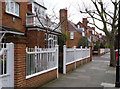 TQ2179 : Bedford Park railings by Alan Murray-Rust