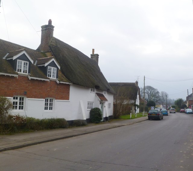 Sturminster Marshall, thatched cottages