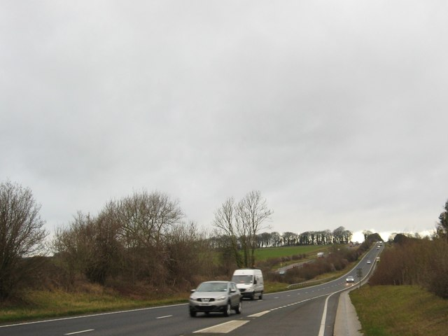 Looking north-west on the A417