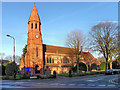 SJ7786 : Parish Church of St Peter, Hale by David Dixon