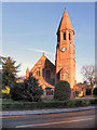 SJ7786 : St Peter's Parish Church, Hale by David Dixon