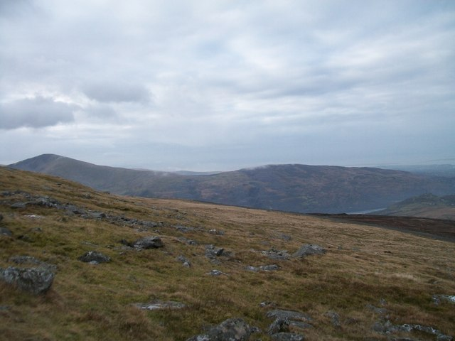 The moraine strewn slopes of Gwastad Ffynnon-deg on Elidir Fach