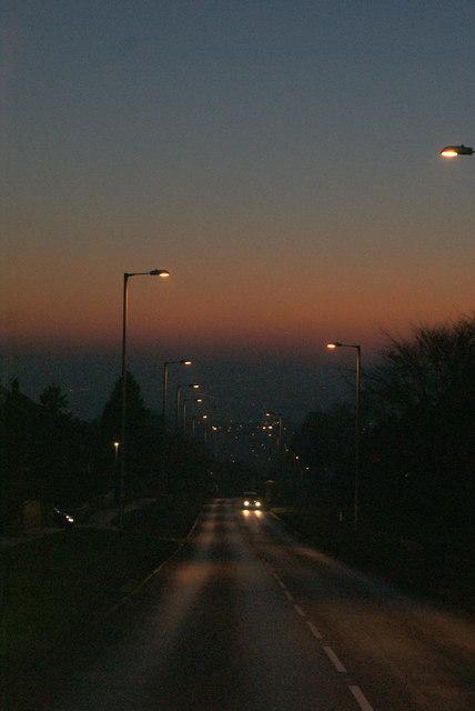 Tinshill Lane dusk