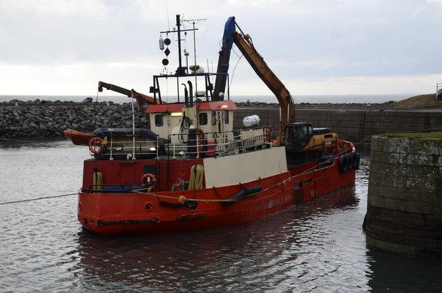 Dredging operations Portpatrick harbour