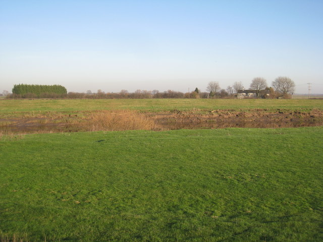 Banks Farm from across the River Don