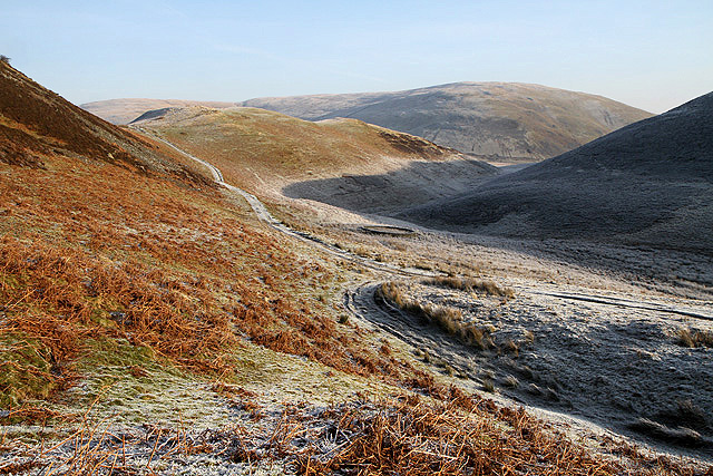 The Southern Upland Way at Mid Hill